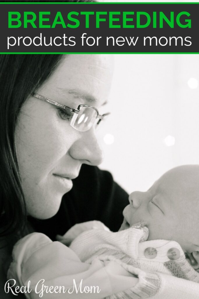 Woman with glasses admiring her new baby