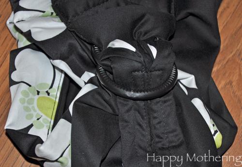 Nylon ring on the Balboa Baby adjustable sling
