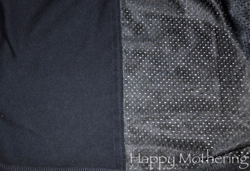 Black mesh fabric of baby carrier
