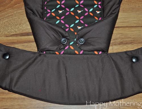 Beco Gemini baby carrier set up for a front carry
