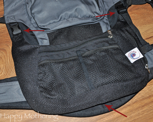 Cargo pack that attaches to the ErgoBaby Performance Baby Carrier