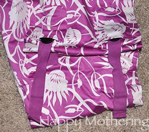 Adjustable size sling for babywearing