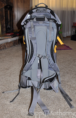 Backside of the Kelty Pathfinder child backpack carrier