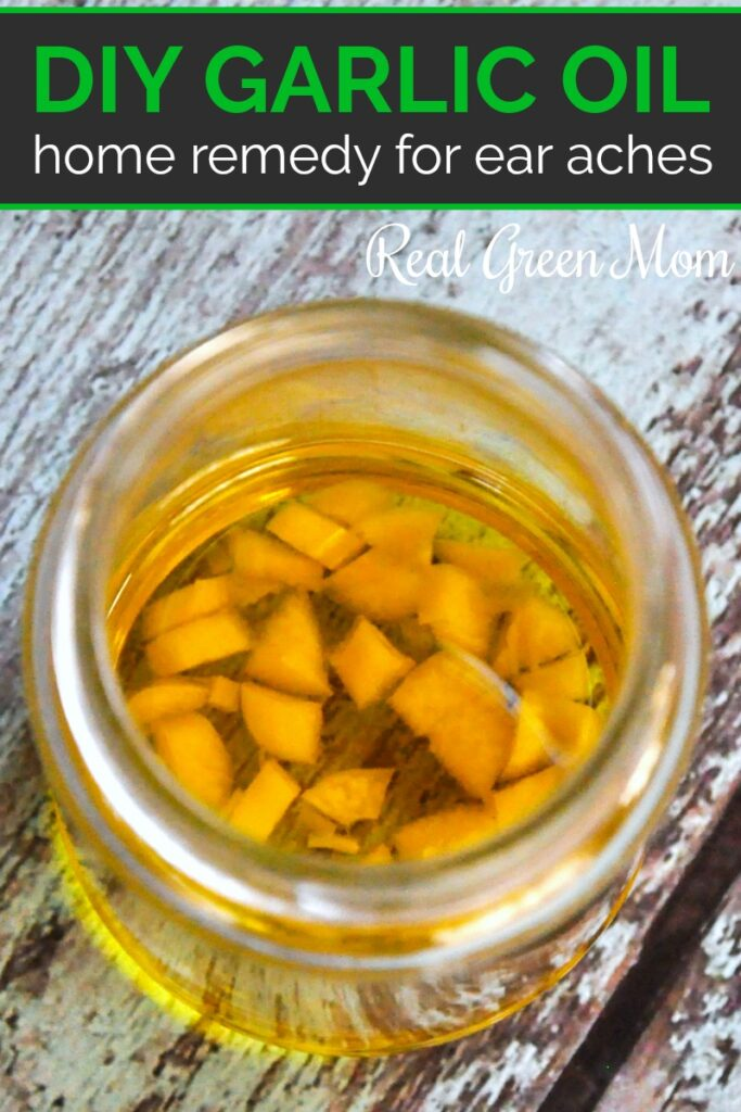 Homemade garlic oil for the ear