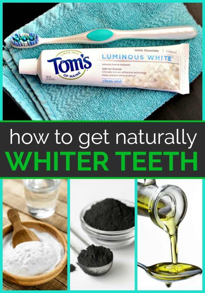 Collage of teeth whitening supplies