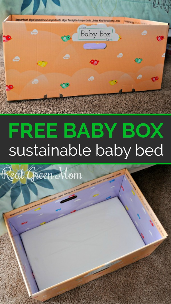 Side view and overhead view of free baby box from Baby Box University