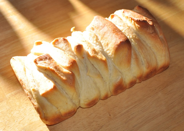 Pull Apart Bread Loaf on a cutting board
